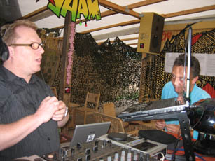 Here I started Djing @ Yaam, Aug. 16th 2009